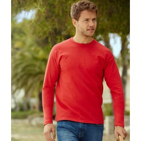 FRUIT of the LOOM VALUEWEIGHT LONG SLEEVE T 100% BAMB.