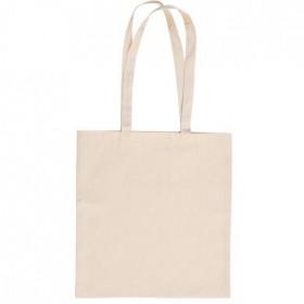 Τσάντα πάνινη natural με μακρύ χερούλι 305